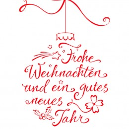 Weihnachtskugel Typographie
