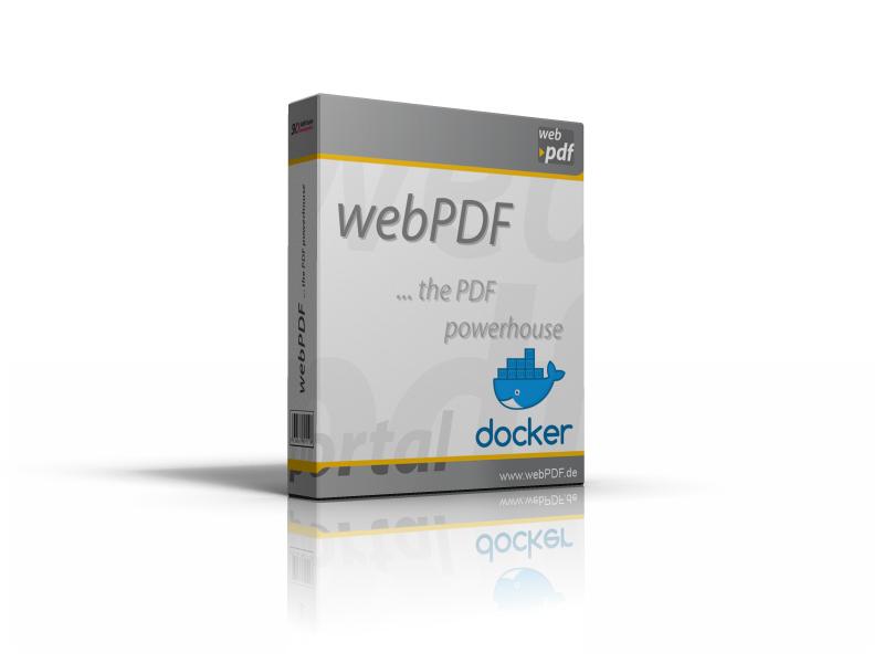 Porduktbox webPDF mit Docker